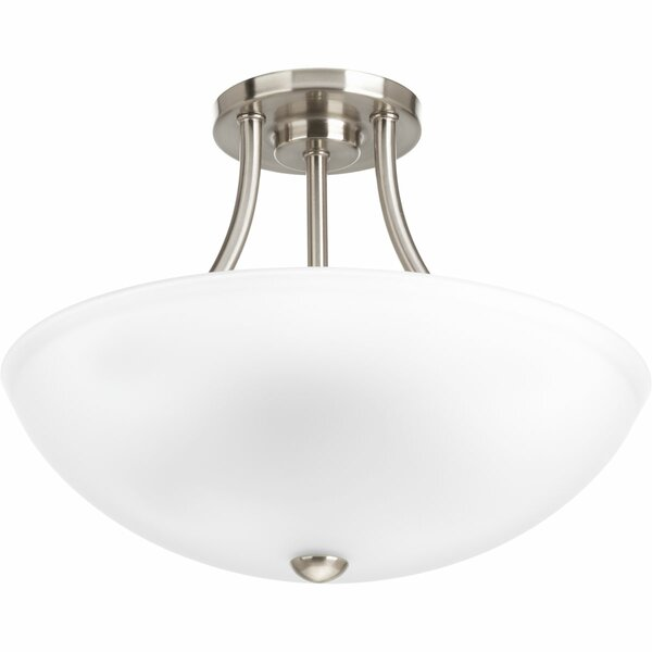 Chauvin 2 - Light 12.875 Semi Flush Mount by Charlton Home®