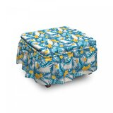 Exotic Leaf Monstera Palm Ottoman Slipcover (Set of 2) by East Urban Home