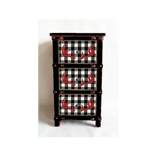 Tyrion Reindeer Buffalo Plaid 3 Drawer Accent Chest by Millwood Pines