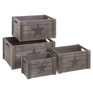 Solid Wood 4 Piece Organiser Box Set By August Grove