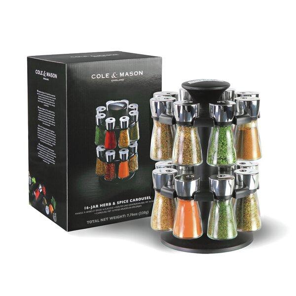 Cole U0026 Mason Herb Ans Spice 16 Jar Spice Jar U0026 Rack Set U0026 Reviews | Wayfair
