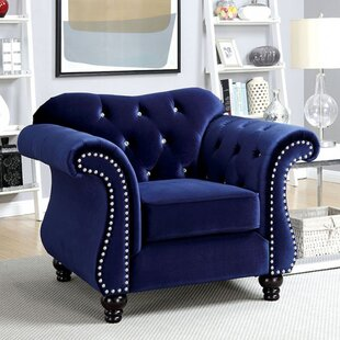 Rosdorf Park Brooks Glam Chesterfield Chair