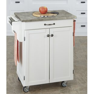 Cuisine Cart Kitchen Cart with Concrete Top Home Styles