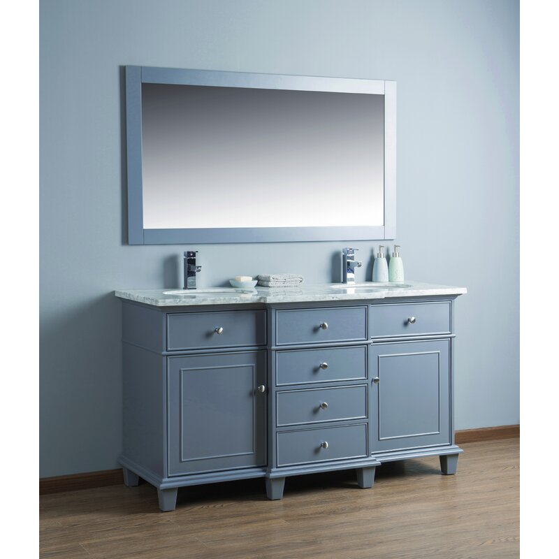 Stupendous Astoria 60 Double Bathroom Vanity Set With Mirror Download Free Architecture Designs Scobabritishbridgeorg