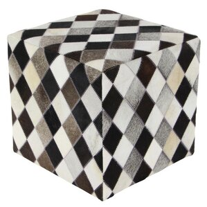 Weaver Wood Ottoman by Loon Peak