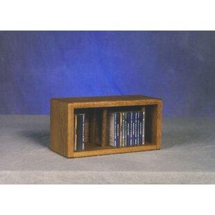 Great Price 100 Series 28 CD Multimedia Tabletop Storage Rack ByWood Shed