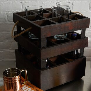 Stackable Crate 9 Bottle Tabletop Wine Rack by Quickway Imports