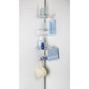 Rebrilliant Juliet 3 Tier Corner Tension Pole Shower Caddy with Soap Dish