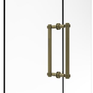 Contemporary 12 Back to Back Shower Door Pull with Dotted Accent by Allied Brass