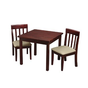 Abilene Children's Kids 3 Piece Writing Table and Chair Set by Harriet Bee