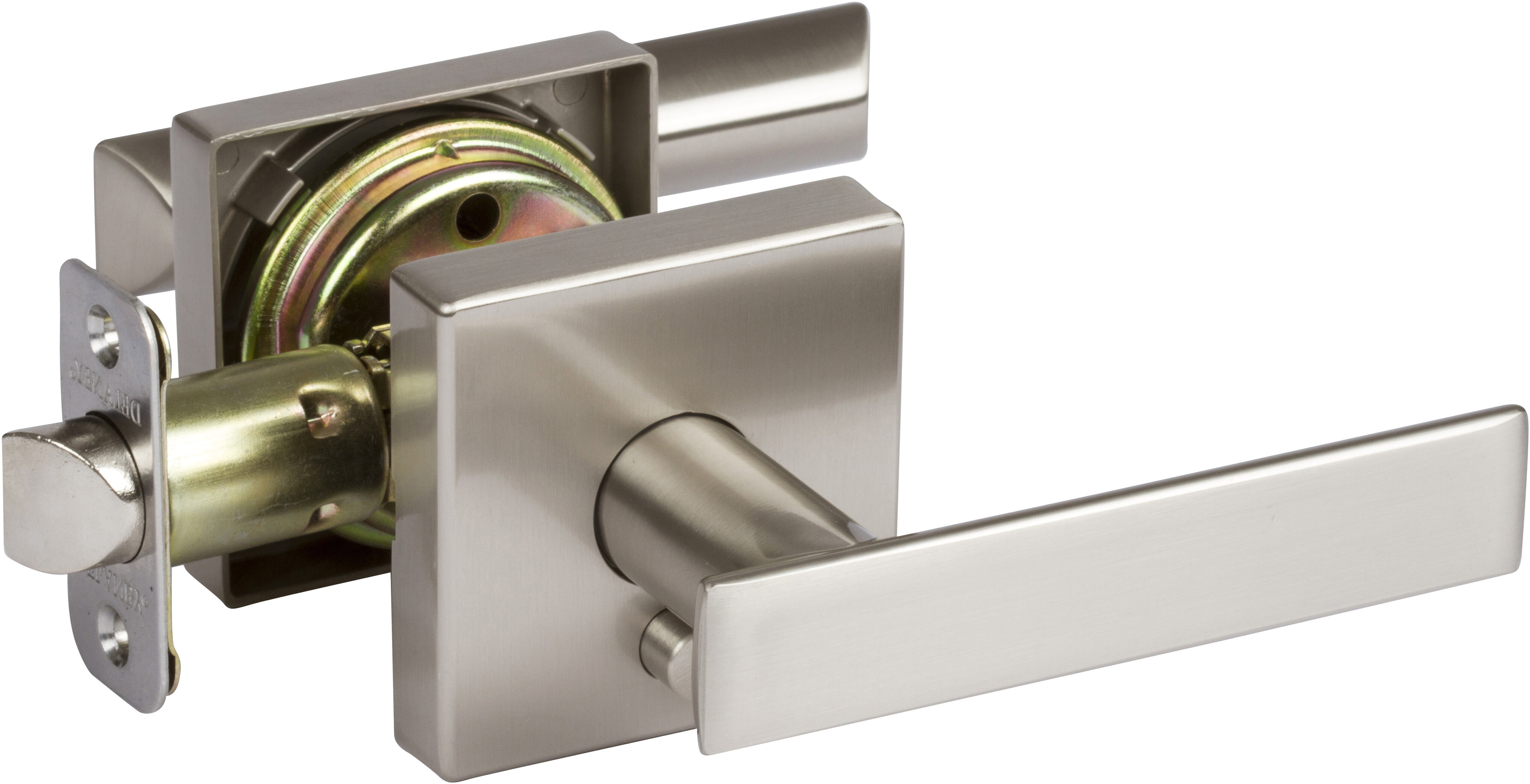 Delaney Hardware Kira Privacy Door Lever With Square Rosette Wayfair