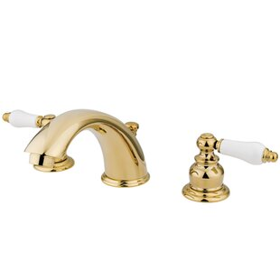 Victorian Widespread Bathroom Faucet with Brass Pop-Up Drain By Kingston Brass