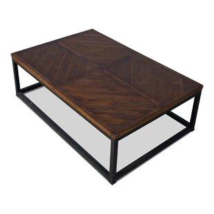 Parquet Low Table, Dark Brown, 48 X 32