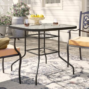 Courtois Outdoor Stainless Steel Dining Table