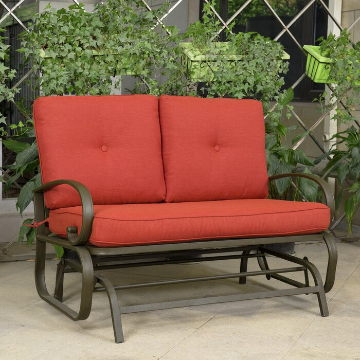 Courtois Outdoor Glider Bench with Cushions