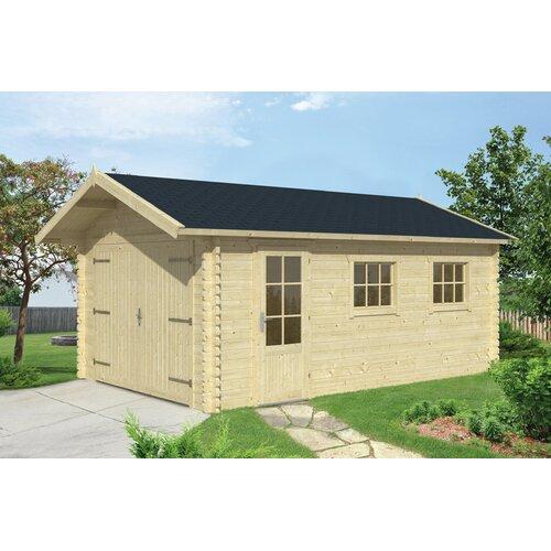 3|5 m x 5|5 m Garage Emrik Garten Living Dach: Rechteckig Schwarz| Fundament: Ohne Fundament | Baumarkt > Garagen und Carports > Garagen | Garten Living