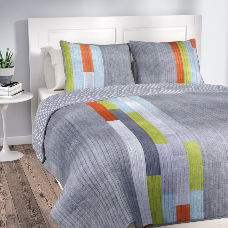 latitude run ramsey stripe quilt set reviews wayfair