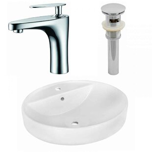 Best Price Ceramic Oval Vessel Bathroom Sink with Faucet and Overflow ByRoyal Purple Bath Kitchen