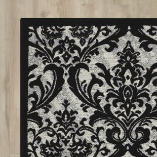 Price Check Portleven Black/White Area Rug By Charlton Home