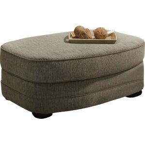 Simmons Upholstery Ashendon Oval Ottoman by Alcott Hill