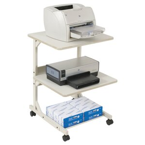 Dual Laser Mobile Printer Stand With 3 Shelves