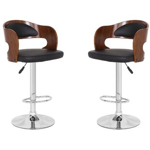 Mcentire Adjustable Height Bar Stool - set of 2 (Set of 2) by Orren Ellis
