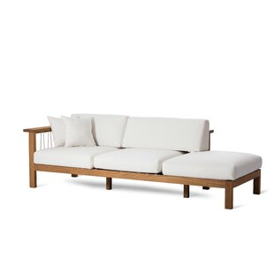 Maro Teak Chaise Lounge with Cushions