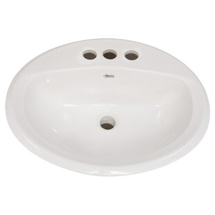 Buying Antiquity Ceramic Circular Drop-In Bathroom Sink with Overflow ByAmerican Standard