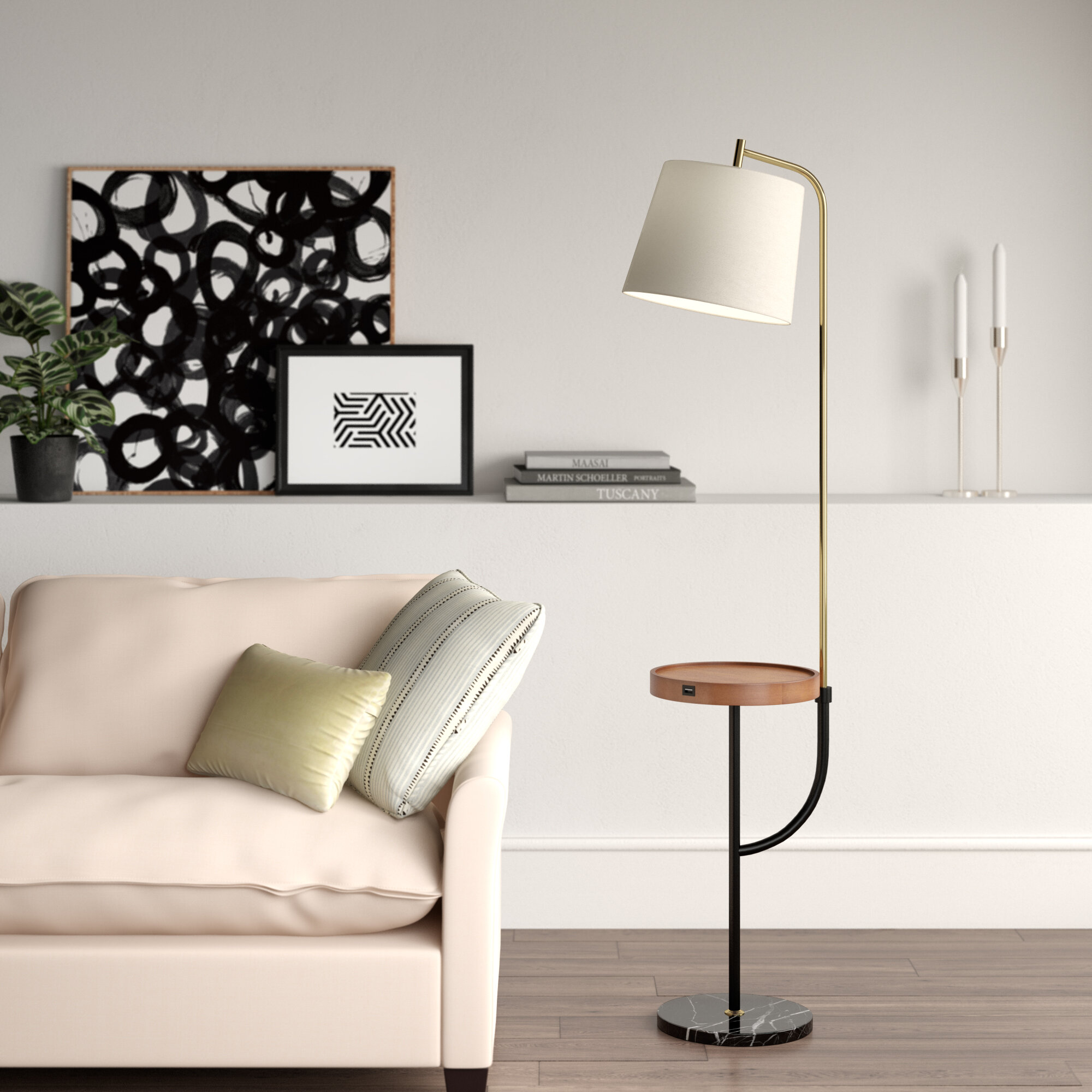 Leeward 66 Tray Table Floor Lamp