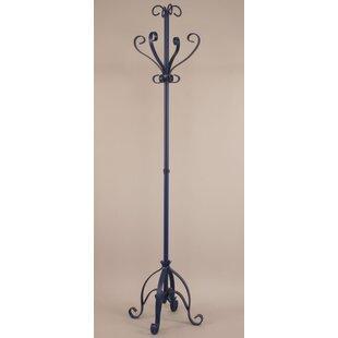 Coast Lamp Mfg. Iron Plain Pedestal Coat Rack