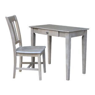 Bert Solid Wood Desk and Chair Set