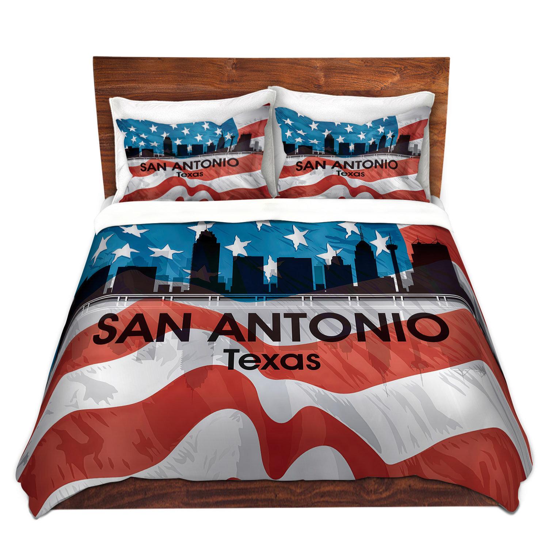 East Urban Home City Vi San Antonio Texas Duvet Cover Set