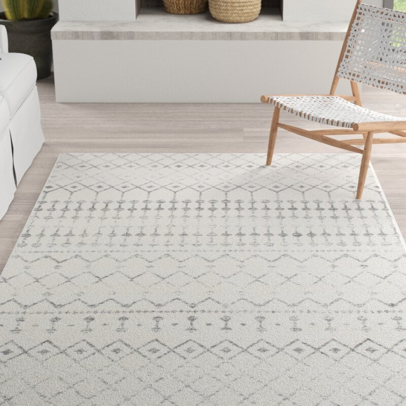 Mistana Clair Geometric Gray Rug