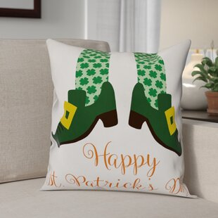 Bledsoe Happy St. Patrick's Day Throw Pillow