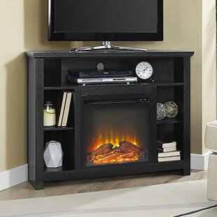 Senecaville Corner TV Stand For TVs Up To 48 With Electric Fireplace DarHome Co