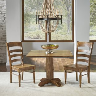 One Allium Way Ian Drop Leaf Solid Wood Dining Table (Set of 2)