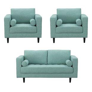 Harworth 3 Piece Living Room Set by Corrigan Studio