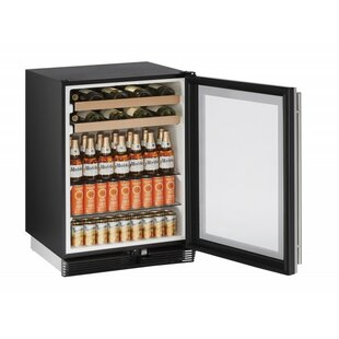 1000 Series Reversible Stainless Steel 24-inch 5.4 cu. ft. Undercounter Beverage Center