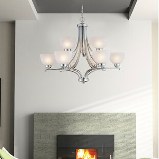 Buy clear Stivers 9-Light Shaded Chandelier By Alcott Hill