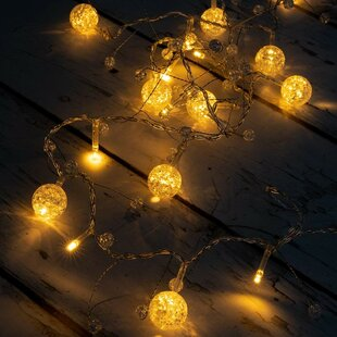 The Holiday Aisle Kathleen LED Colorful Globe Balls String Fairy Light 10 Light Novelty String Lights