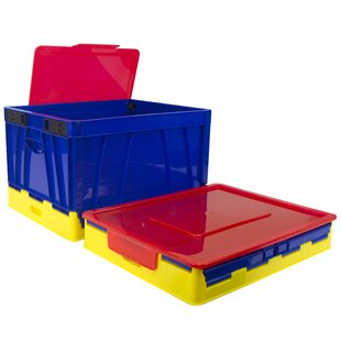 Bargain Folding Storage 4 Piece Cube Set with Lid By Rebrilliant