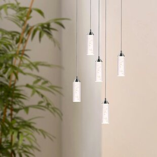 Ardrie 5-Light LED Cluster Pendant by Wrought Studio