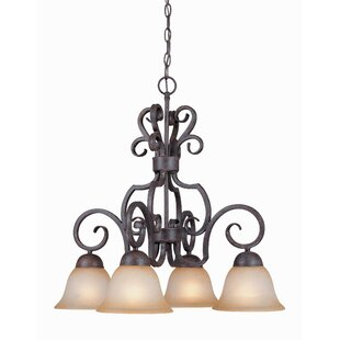 Fleur De Lis Living Nettie 4-Light Shaded Chandelier