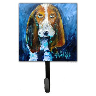 Basset Hound You Talking Bout Me Leash Holder and Wall Hook by Caroline's Treasures