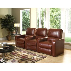 Modern Upholstery Home Theater Recliner (Row of 3) by Red Barrel Studio