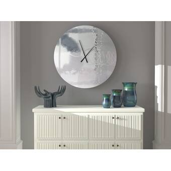 Latitude Run Adventurous Momentous Abstract Metal Wall Clock Wayfair