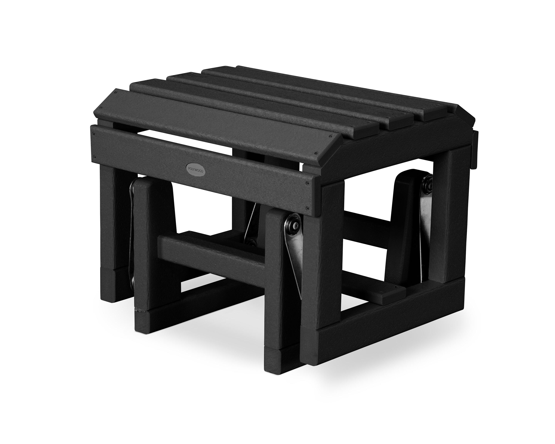 Polywood Plastic Resin Adirondack Chair And Ottoman Reviews Wayfair