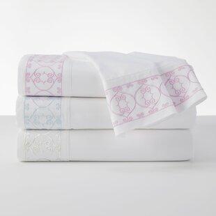 Lorelei 100% Cotton Embroidered White Sheet Set