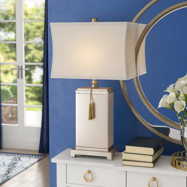 "Oriental Furniture 26/"" Blue Landscape Porcelain Lamp"