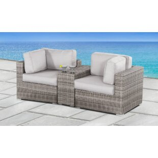 Yeomans Loveseat with Cushions by Rosecliff Heights